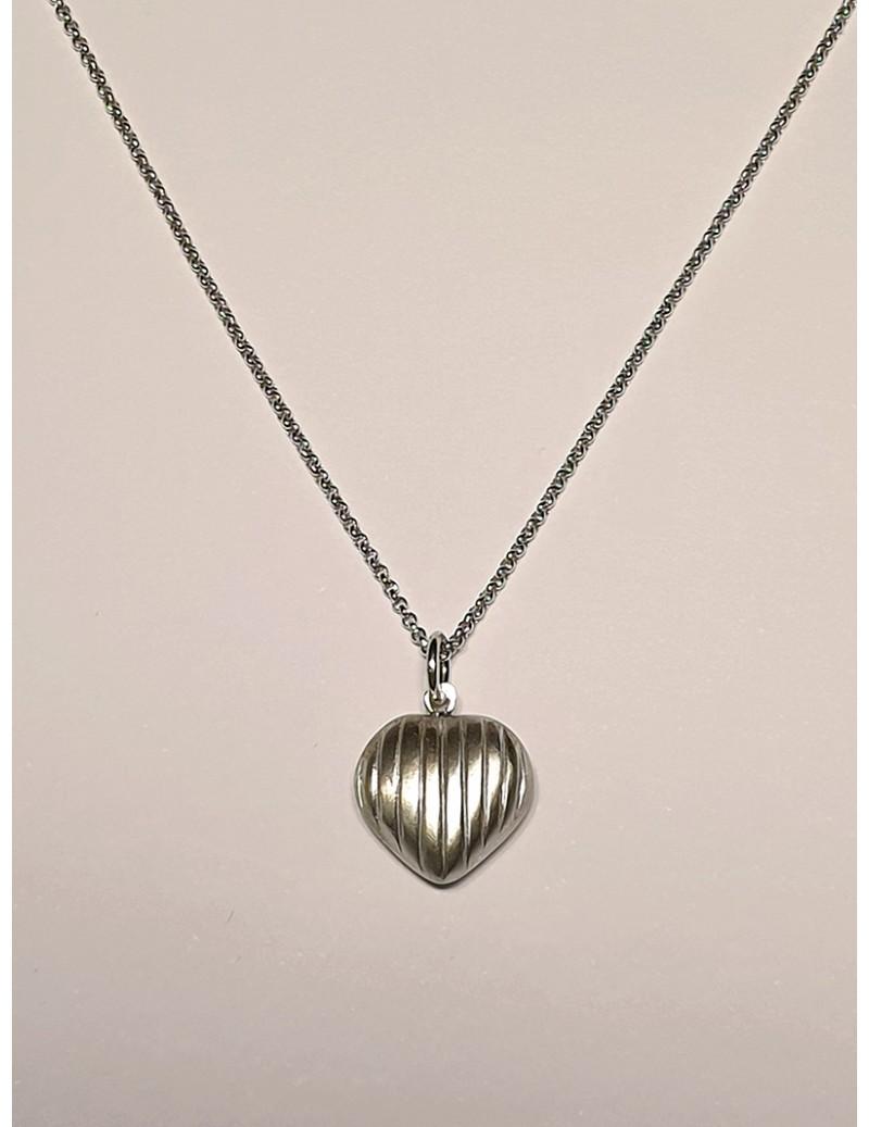 Colar Coração Bobo - Prata